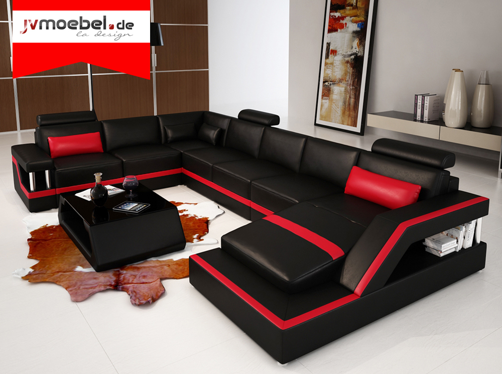 designer big ledersofa wohnlandschaft online. Black Bedroom Furniture Sets. Home Design Ideas