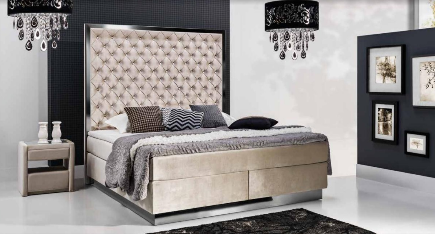 xxl polster designer bett chesterfield boxspring bett. Black Bedroom Furniture Sets. Home Design Ideas